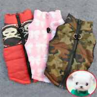 Small Pet Dog Winter Warm Padded Vest Coat Puppy Pets Cat Harness Jacket Apparel