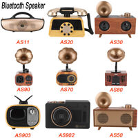Portable Retro Gramophone Shape Wireless Bluetooth Stereo Speaker USB+FM Radio