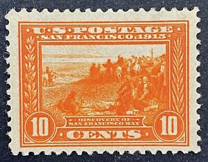 US Stamps, Scott #400A 1913 10c Discovery of San Francisco Bay VF M/LH.