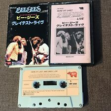 BEE GEES Here At Last...Live JAPAN CASSETTE CWT6502 w/SLIP CASE+INNER SLEEVE