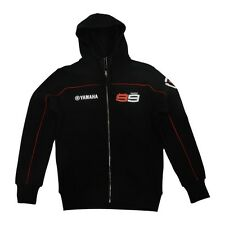 New Official Jorge Lorenzo Black Yamaha Mans Hoodie - 13 21203