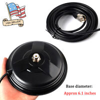 """6.1"""" SO239 Magnetic Antenna Base PL-259 Plug For CB Radio With 16.4ft RG58 Cable"""