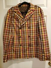 ETRO Men's Double Breasted Plaid Jacket/Blazer Made in Italy 48 or US 38
