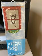 """New listing Large Garden Flag Cat in a Window 28""""x44"""""""