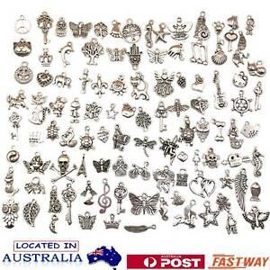 100X Jewelry Making Silver Charms Mixed Tibetan Silver Metal Charms Pendants DIY