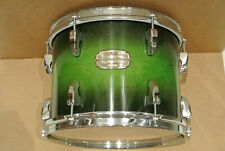 """ADD this PEARL SESSION CUSTOM GREEN BURST 12"""" TOM to YOUR DRUM SET TODAY! #K7"""