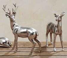 Reh + Hirsch stehend silber 2er-Set (842420) Tierfigur Dekofigur Weihnachtsdeko