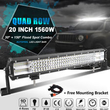"10D Quad Row 1560W CREE 20inch Led Light Bar Spot Flood Combo Work Lamps 22"" 24"""