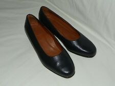Womens Footthrills Leather pumps-slip on shoes, Size 8, Navy Blue, Made in USA