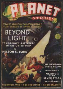 Planet Stories 1940 Winter, #5.     Pulp