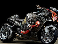 "24"" x 36"" Poster Hayabusa Custom Bike Predator with Skeleton"