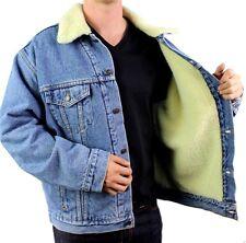New Levi's Men's Premium Classic Button Up Denim Fur Jacket 705200315 Size XL