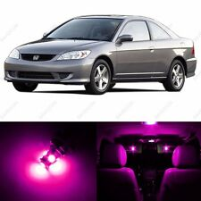 6 x Pink/Purple LED Lights Interior Package For Honda CIVIC 2001 - 2005 + Tool