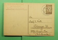 DR WHO 1920 SLOVENIA PAZARIC POSTAL CARD TO USA  f45469