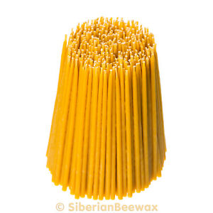 beeswax candles 300 pieces 100% beeswax yellow