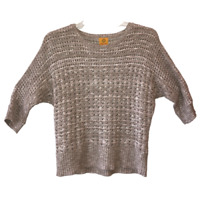 Ruby Rd Womens Extra Large Brown Loose Weave Knit Rib Pullover Sweater Top XL