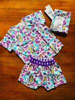 Bonds Baby Bluey Playground Purple White Green Short PJ Set Size 1 BNWT Pyjamas