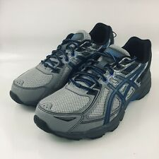 Asics GEL-VENTURE 6 (4E) T7G3N Aluminum/Blk/Blue Lace-Up Running Shoes 10.5
