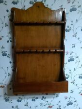 Wooden Spoon Holder Display Rack with shelf on bottom Holds 12 spoons