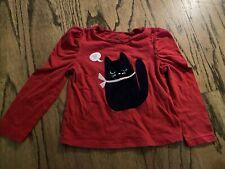 Baby Gap 2T Red Cat Heart Long Sleeve Shirt