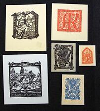 31)Nr.177- EXLIBRIS- Rose Reinhold, Konvolut 6 Blätter