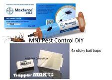 2x Maxforce Gold Gel Cockroach, German Cockroach Fipronil + 4 Sticky Traps