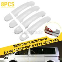 8pcs Set 4 Door Handle Covers Trim White New For VW TRANSPORTER T5 T6 CADDY VAN