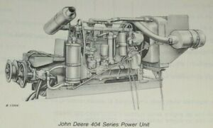 John Deere 404 Series Power Unit Engine Parts Catalog Manual (up to s/n 214,999)