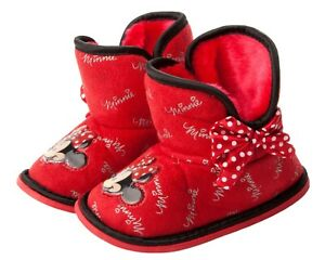 Minnie Mouse Bootie Slippers Size 11