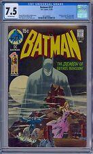 BATMAN #227 - CGC 7.5  OW VF- NEAL ADAMS COVER Detective 31 Swipe