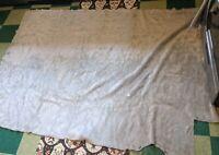 Mix Century Modern VTG Faux Fur Gray Rug Blanket Fabric Ben Franklin Rare 93x62