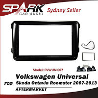 SP Double DIN Facia Fascia Panel Dash Plate For Skoda Octavia Roomster 2007-2013