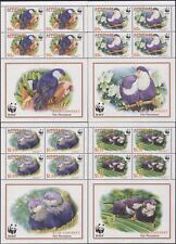 Aitutaki 2002 WWF/Blue Lorikeet/Birds/Nature/Conservation  4 x 4v shtlts n16100b