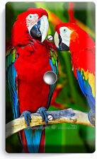 TROPICAL PARROTS LOVE BIRDS LIGHT DIMMER VIDEO CABLE WALL PLATE COVER HOME DECOR