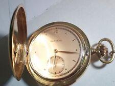 Paul Buhre pocket watch 18k 0.750 gold, 139.9grams, beautiful, Repeater, running