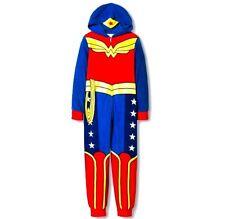 Wonder Woman Pajamas Size 4-8 girls One Piece Blanket Sleeper Costume Pj NEW NWT