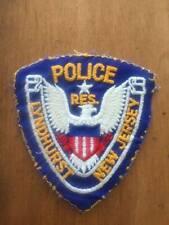Vintage Lyndhurst New Jersey Police Reserve Uniform Cut Off Patch