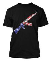 American Flag AK-47 - Gun 2nd Amendment USA Men's T-shirt