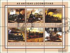 Guinée-bissau 1719-1724 Feuille miniature oblitéré 2001 chemins de fer je