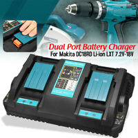For Makita DC18RD Li-ion LXT 7.2v-18v Fast Rapid Dual Twin Port Battery