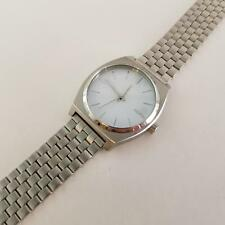 Nixon A045100 Men's Time Teller Minimal Watch  A045-100 Silver/White {2329}