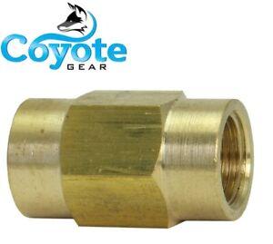 (50 Pack Lot) 3/16 Tube (M10x1.0 Inverted) Brass Brake Line Union Coupler New