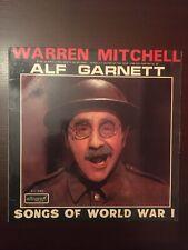Waren Mitchel Alf Garnett Songs Of World War I Vinyl LP Unplayed