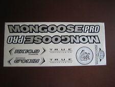 Mongoose PRO RX 10.9 Titanium Stickers Silver, Black & White.