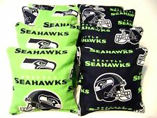 Seattle Seahawks Cornhole Bean Bags 8 Top Quality Regulation Handmade Bags New