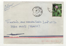 1 timbre sur lettre 1987 tampon Côte-d'Ivoire Abidjan  /L234