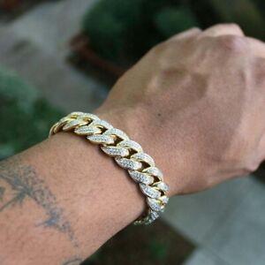 Heavy Men's Cuban Link Finish Miami Bracelet Resin Hip Hop Jewelry