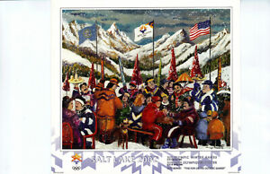 """2002  Salt Lake City Olympic Games Original Poster""""The Fun of the Olympic Games"""""""