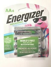Energizer RECHARGE Power Plus (4) AA Rechargeable Batteries BRAND NEW/UNOPENED