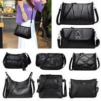 Fashion Women Messenger Shoulder Tote Soft PU Leather Crossbody Handbag Hobo Bag